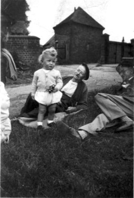 With grand-dad on The Green