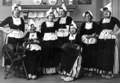 The girls in traditional dutch costume