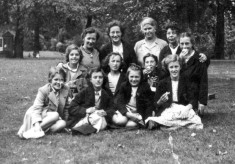 Schoolgirls and teachers on an outing
