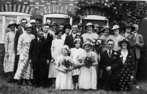 A wedding party in Bottesford