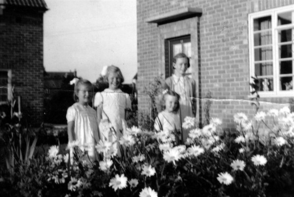 The sisters in the gardens on The Square