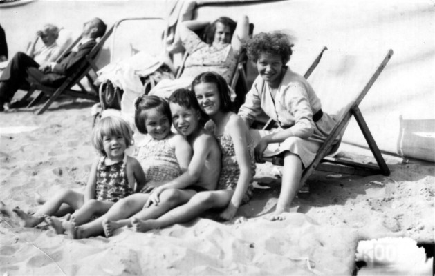 The Dunsmore girls on the beach at Skegness