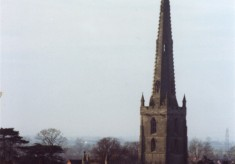 Photo of Bottesford spire seen from Beacon Hill