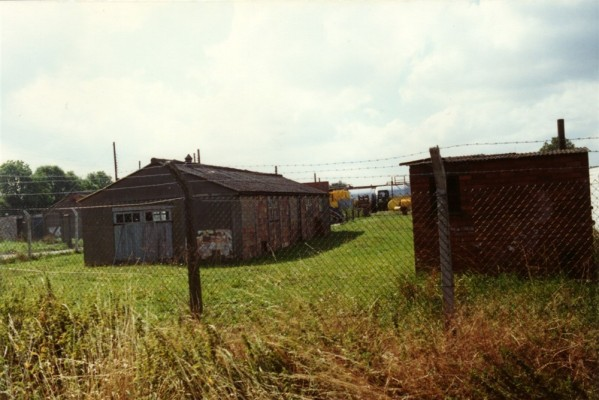 Army camp buildings on Orston Lane