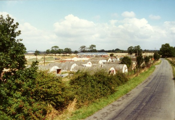 Army camp huts on Orston Lane