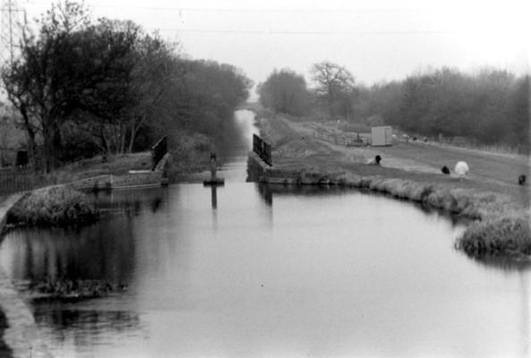 Woolsthorpe canal pool looking towards Muston