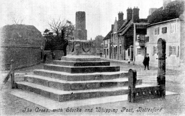 Postcard of Cross and Stocks, looking south