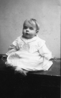 portrait of Philip Marsh as a baby