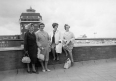 Ladies enjoying a visit to the airport