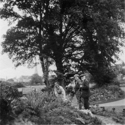 The grandparents visit the garden at The Elms
