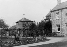 A picture of the garden at The Elms