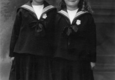 A portrait of two young sisters