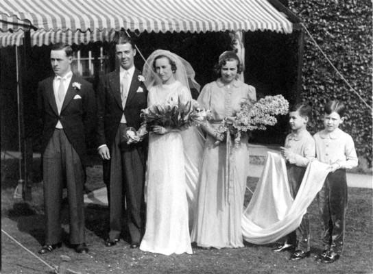 Marsh family wedding group