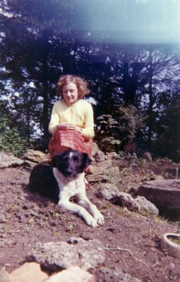 A young Angela Marsh and her dog
