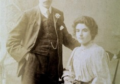 Portrait of young George Marsh and his wife