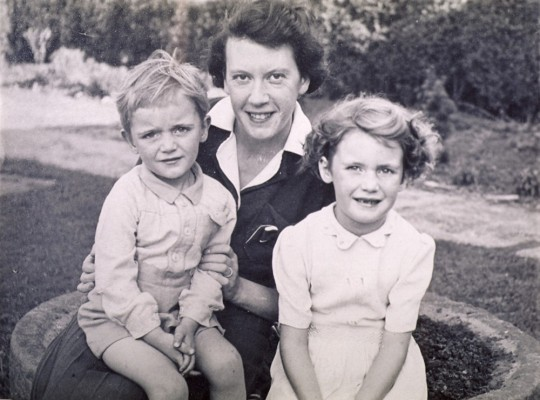 Mrs Marsh and two children