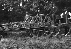 A steam operated field harrow