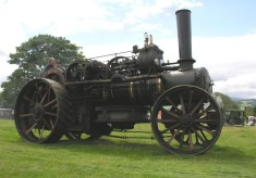A steam traction engine once owned by George Marsh