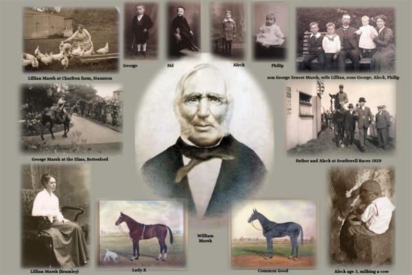 Montage of Marsh family pictures