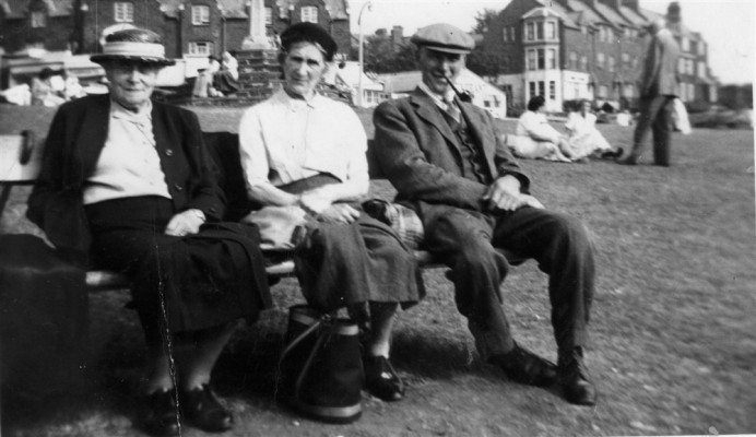 A holiday group at the seaside