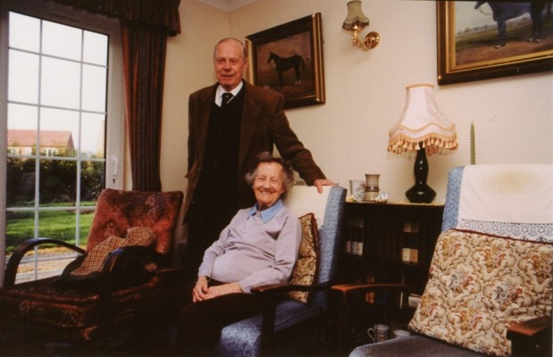 Mr Philip Marsh and his wife, at home