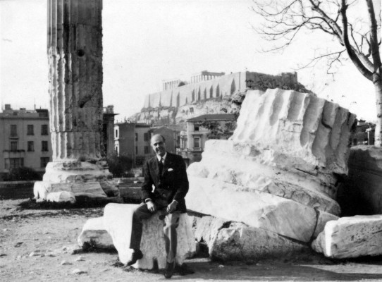 Mr Marsh on a visit to Athens