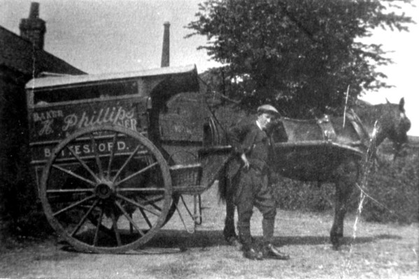 Phillips' horse drawn baker's wagon