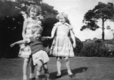 Children in the garden at The Elms 1
