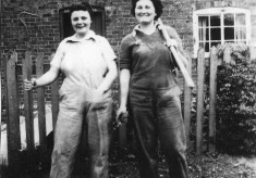 Two Land Army girls during WW2
