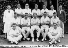 The college cricket team in 1932