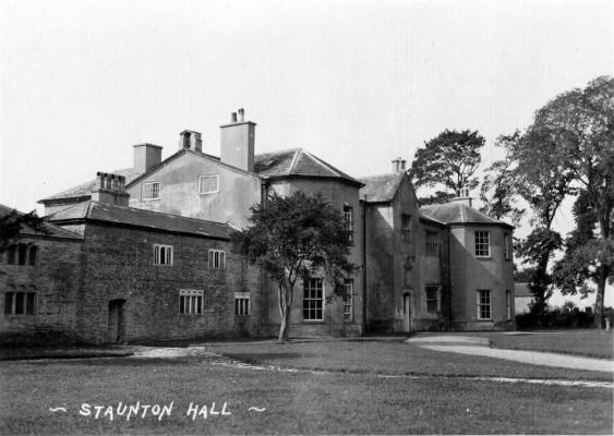 A postcard view of Staunton Hall, Nottinghamshire