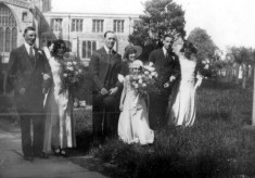 Aunt Elsie and Uncle Jim's wedding, early 1930s 2