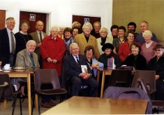 A celebratory get-together at the Methodist chapel