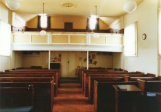 The old seating and gallery of the Methodist chapel
