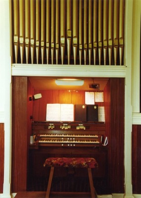 The old organ at the Methodist chapel