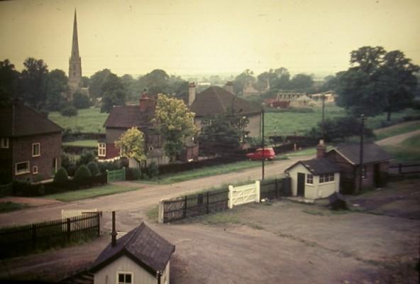 Bottesford Station yard, Beckingthorpe pastures, church spire