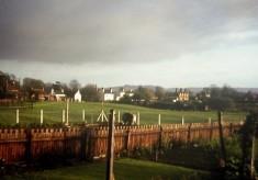 Beckingthorpe pastures from Carter family garden