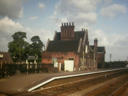 Bottesford Station buildings, pre-1964