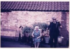 Elderly couple at Beckingthorpe Farm