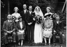 Wedding group, ca.1940