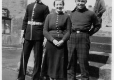 Brothers and sister during the war