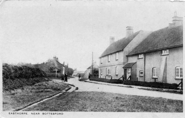 Old postcard of Corner House, Easthorpe