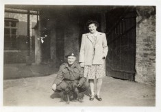 Fred Carter and daughter Jean, at the Bull in WW2