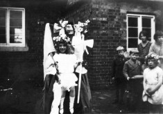 May Queen, in village school yard