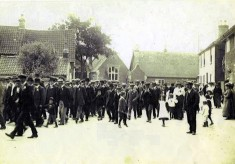 Village march in Church Street, inauguration of Edward Prince of Wales