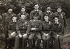 Group in uniform during WW2