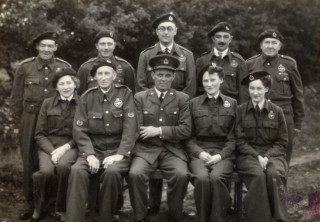 Royal Observer Corp in uniform during WW2 | Margaret Taylor and Frank Hallam