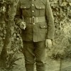 Harold Hallam, in WW1 uniform before departing to France