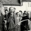 Harold McMillan campaigning, possibly in front of Red Lion, Bottesford