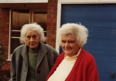 Misses Rayner and Wells, 1970, retired shopkeepers